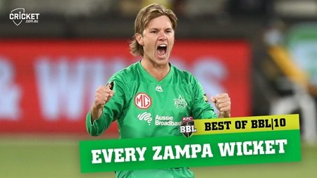 Every wicket: Zampa spins a web in BBL|10