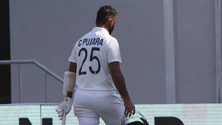 England in control after Pujara's freak dismissal