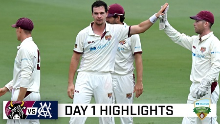 Queensland edge rain-shortened opening day