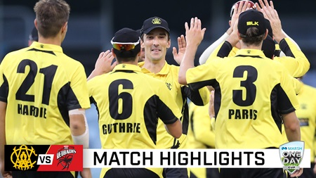 WA prevail in entertaining WACA run-fest