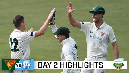 Remarkable day of Shield as 22 wickets fall in Hobart