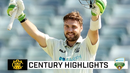 Inglis' dominance continues with third Shield century