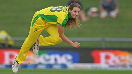 Darcie Brown's express pace rewarded with wicket on debut