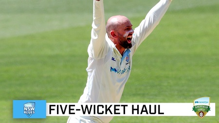 Lyon plays lone-hand for Blues with five wickets