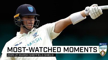 Top 10 most-watched moments of the Sheffield Shield season