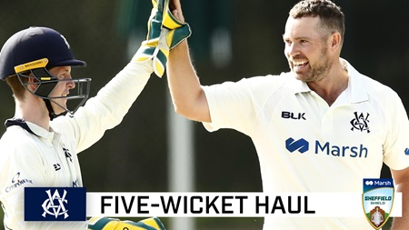 Holland peach highlights Shield five-wicket haul