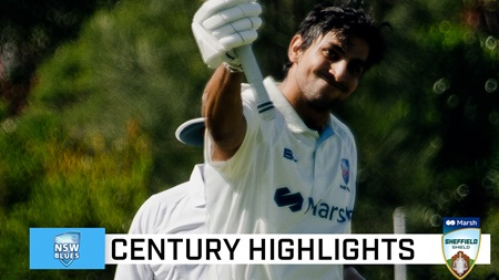 Super Sangha notches first Shield ton in two years