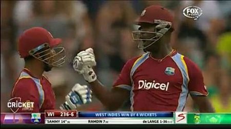 Gayle crashes West Indies to record win