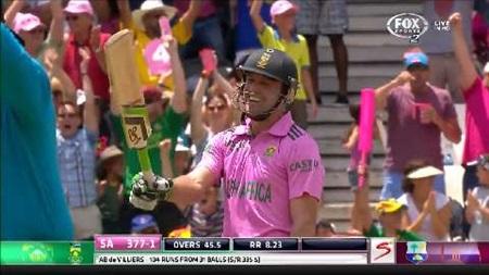 AB blasts fastest ever ODI century