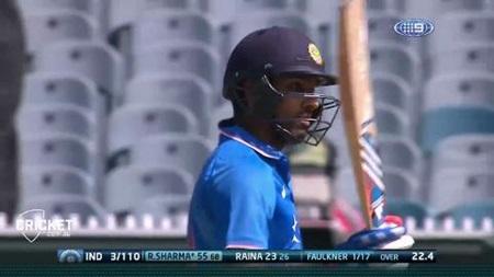 Rohit Sharma romps to three figures