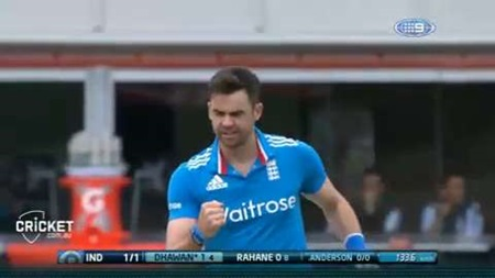 James Anderson Four Wickets