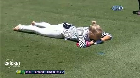 Healy shows her class in catching segment