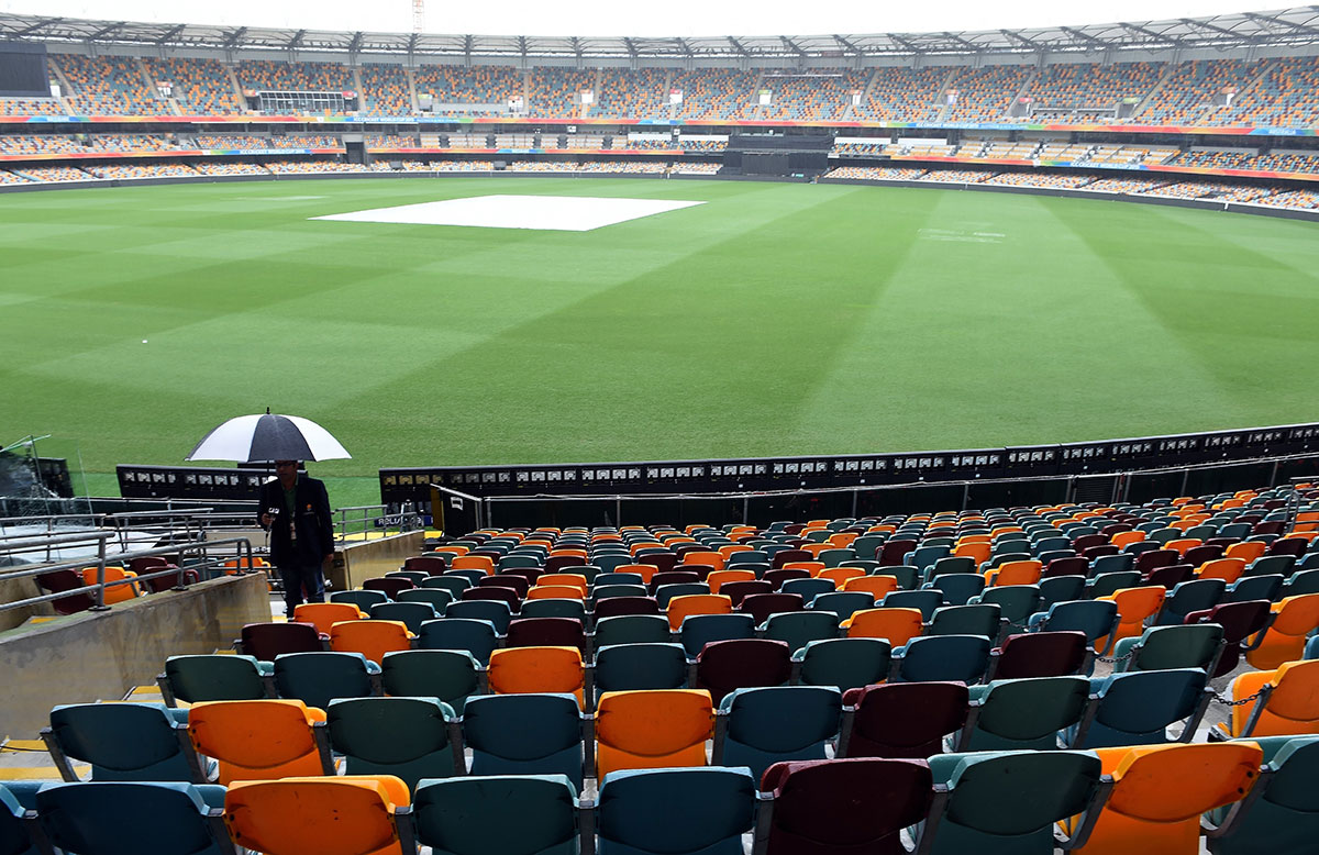 The Gabba is copping plenty of rain // Getty Images