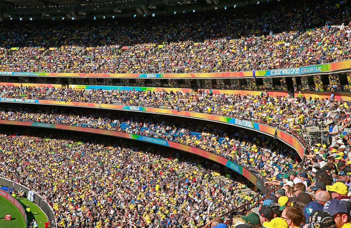A new crowd record was set at the MCG // Getty Images