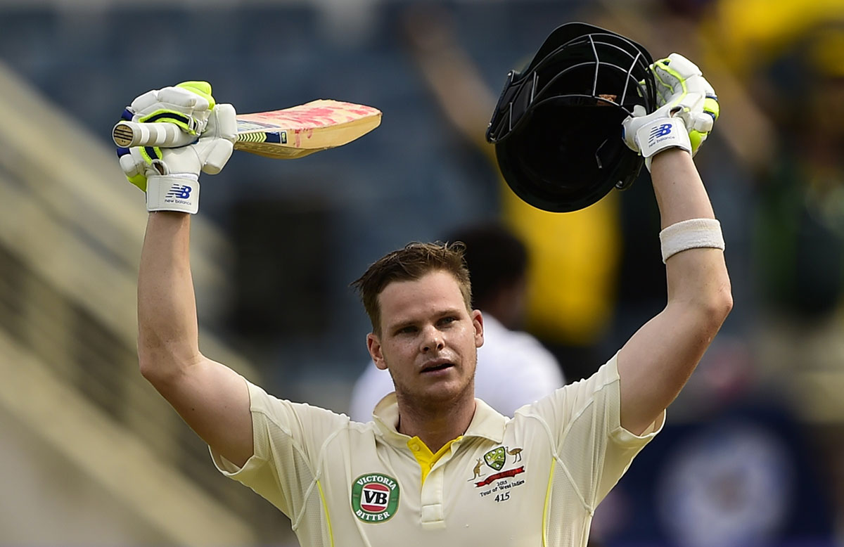 Steve Smith raises the bat in Jamaica // Getty Images