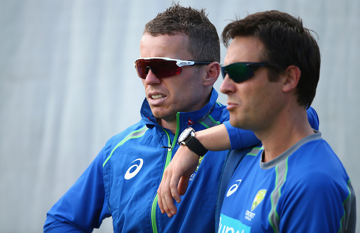 Peter Siddle with David Beakley