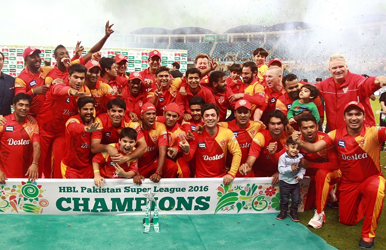 Islamabad United with Pakistan Super League