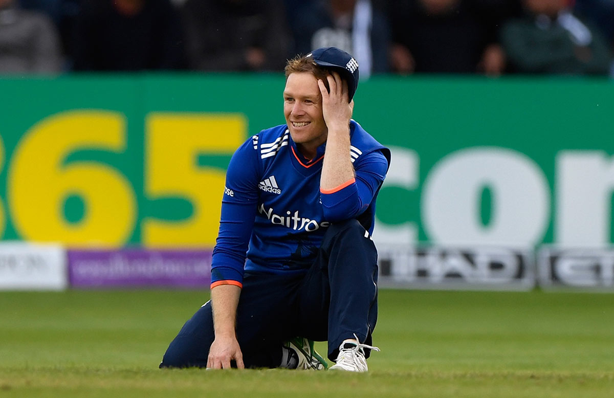 Morgan during the final ODI loss to Pakistan in Cardiff // Getty
