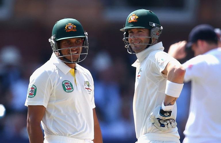 Khawaja and Clarke back in 2013 // Getty