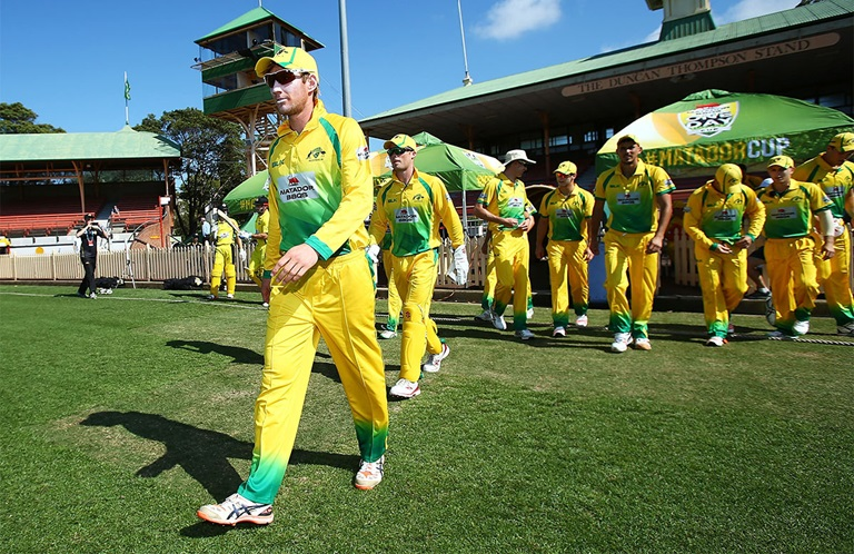 Will Bosisto leading the CA XI last summer // Getty
