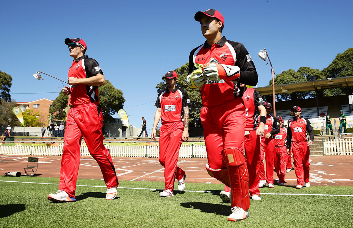 South Australia take the field at Hurstville Oval // Getty