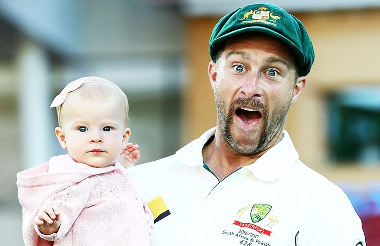 Matthew Wade and his daughter Winter // Getty