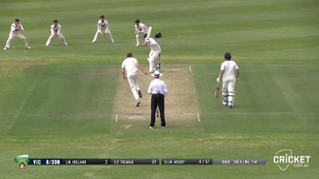 Watch all 10 Victorian wickets to fall