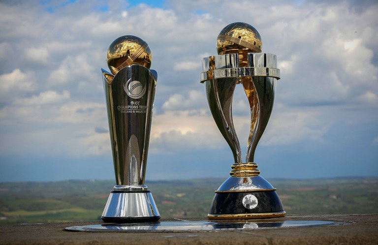 The ICC Womens World Cup Trophy Pictured Right Begins In England On June 24 Getty
