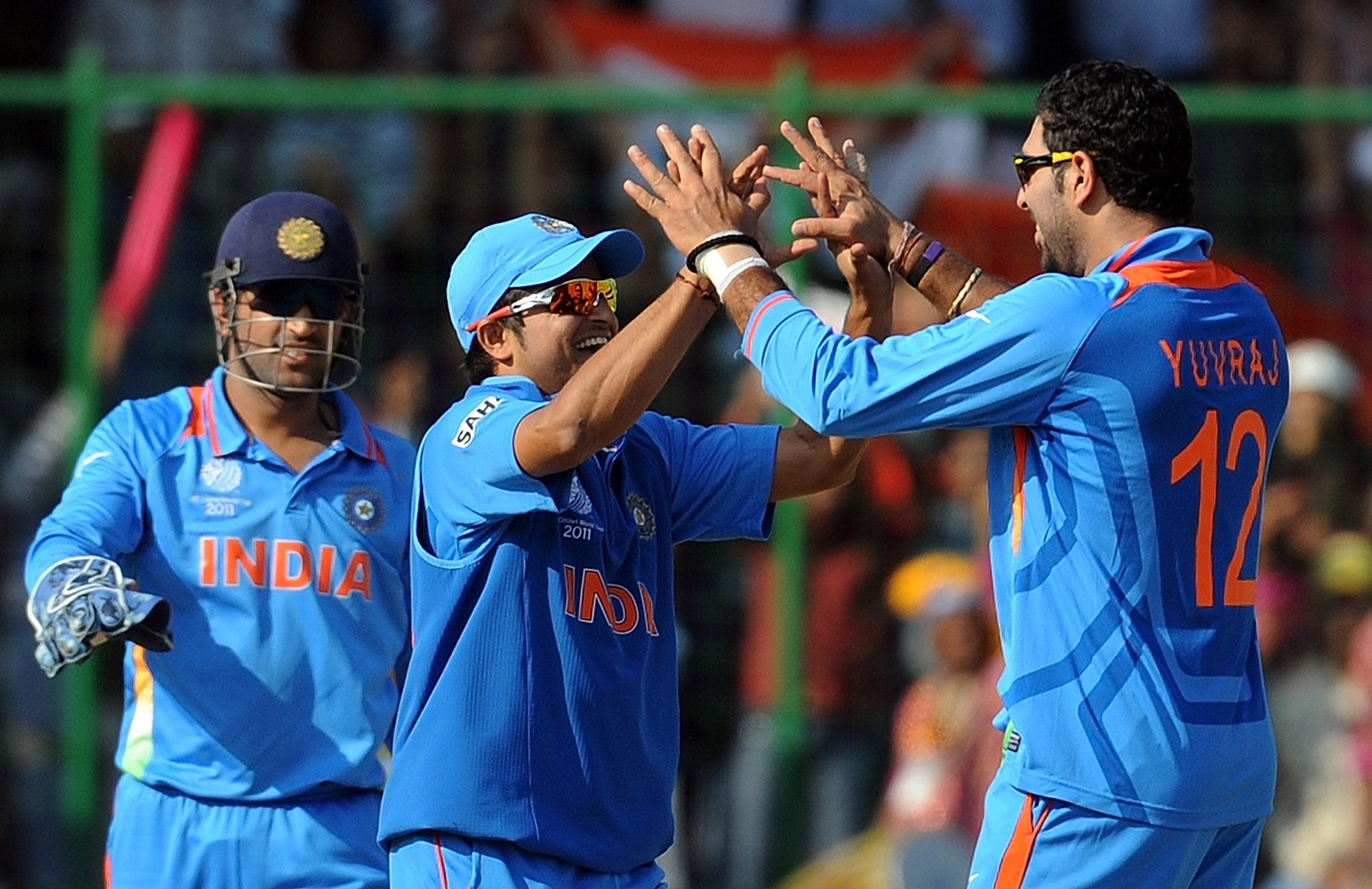 Will Dhoni Raina and Yuvraj find themselves in the same XI again? / Getty