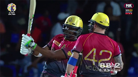 Bravo slams six sixes in 10 balls to secure victory