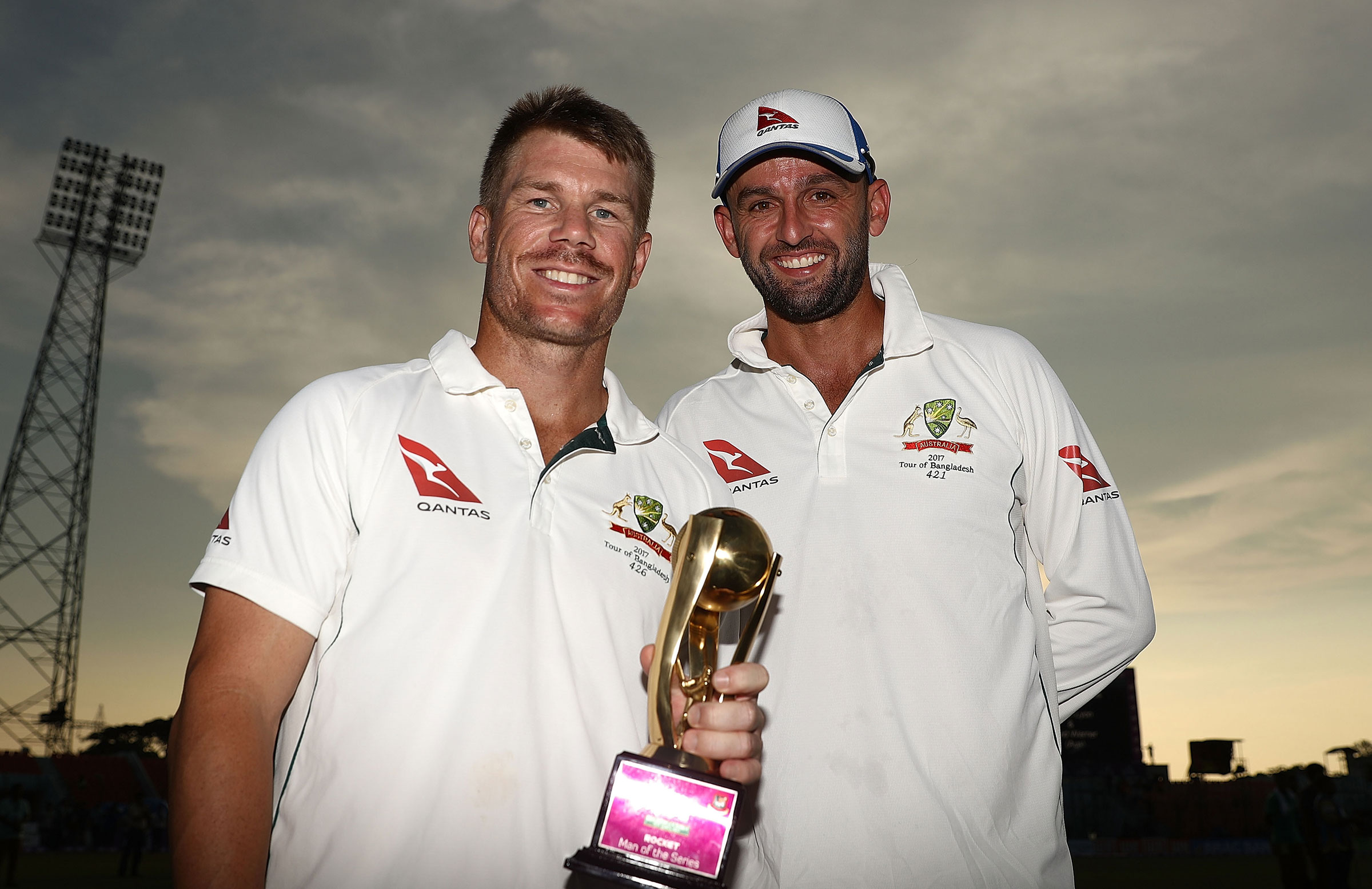 Warner and Lyon split the Man of the Series award // Getty