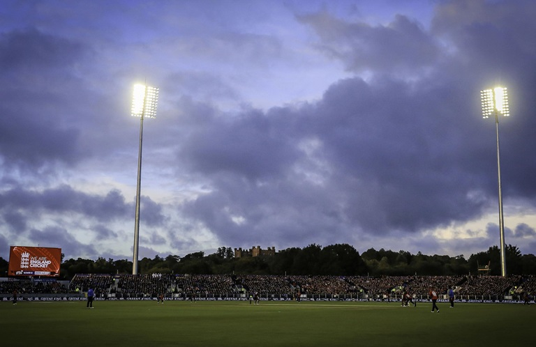 Rain almost ruined the lone T20I // Getty