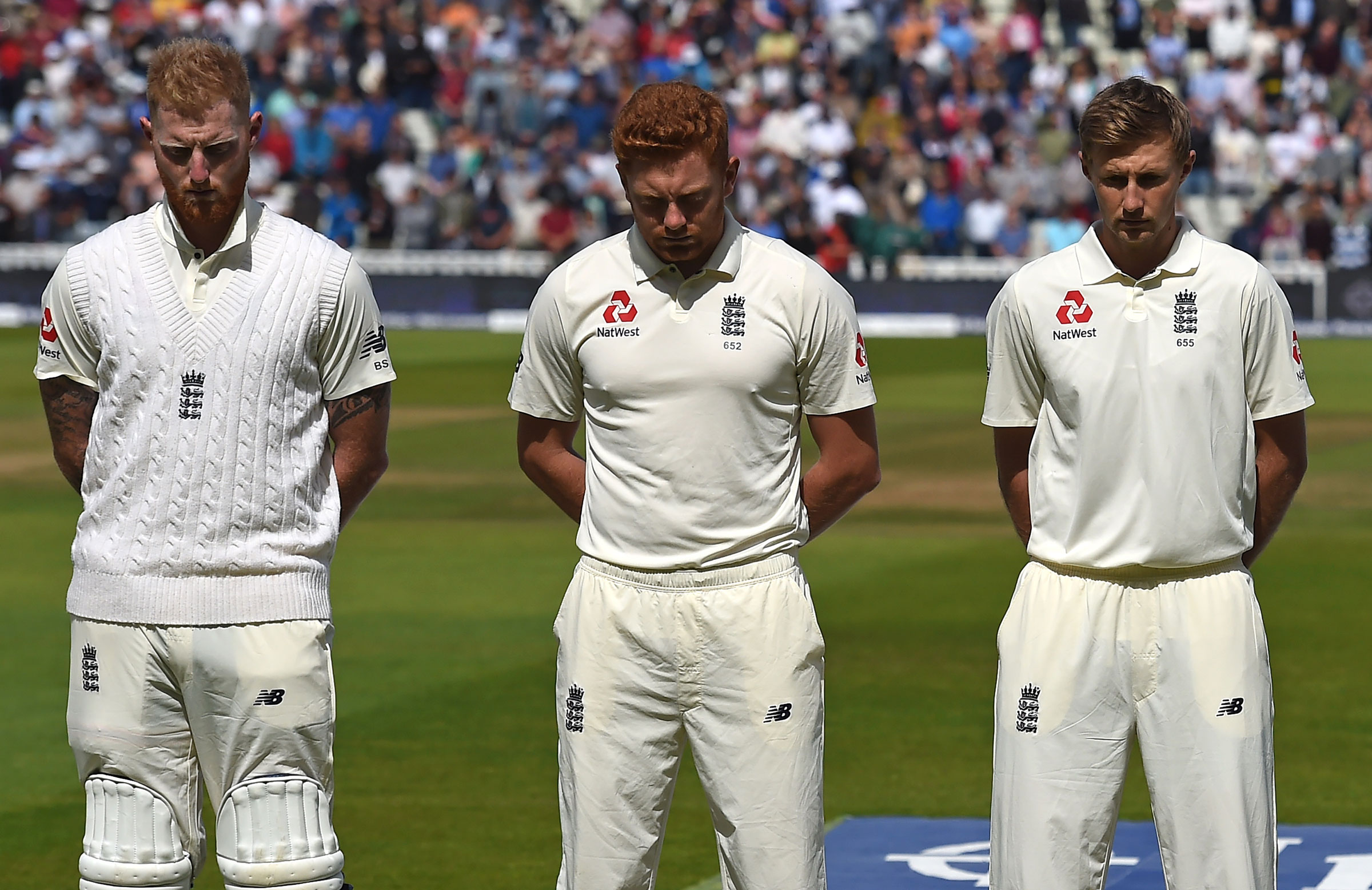Stokes (L), Bairstow and Root // Getty