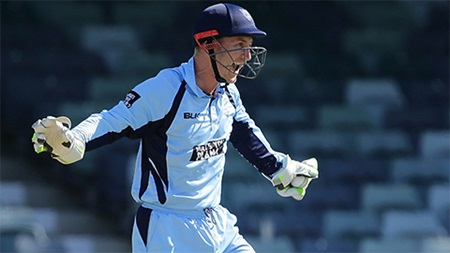 Nevill's eight equals List A wicketkeeping record