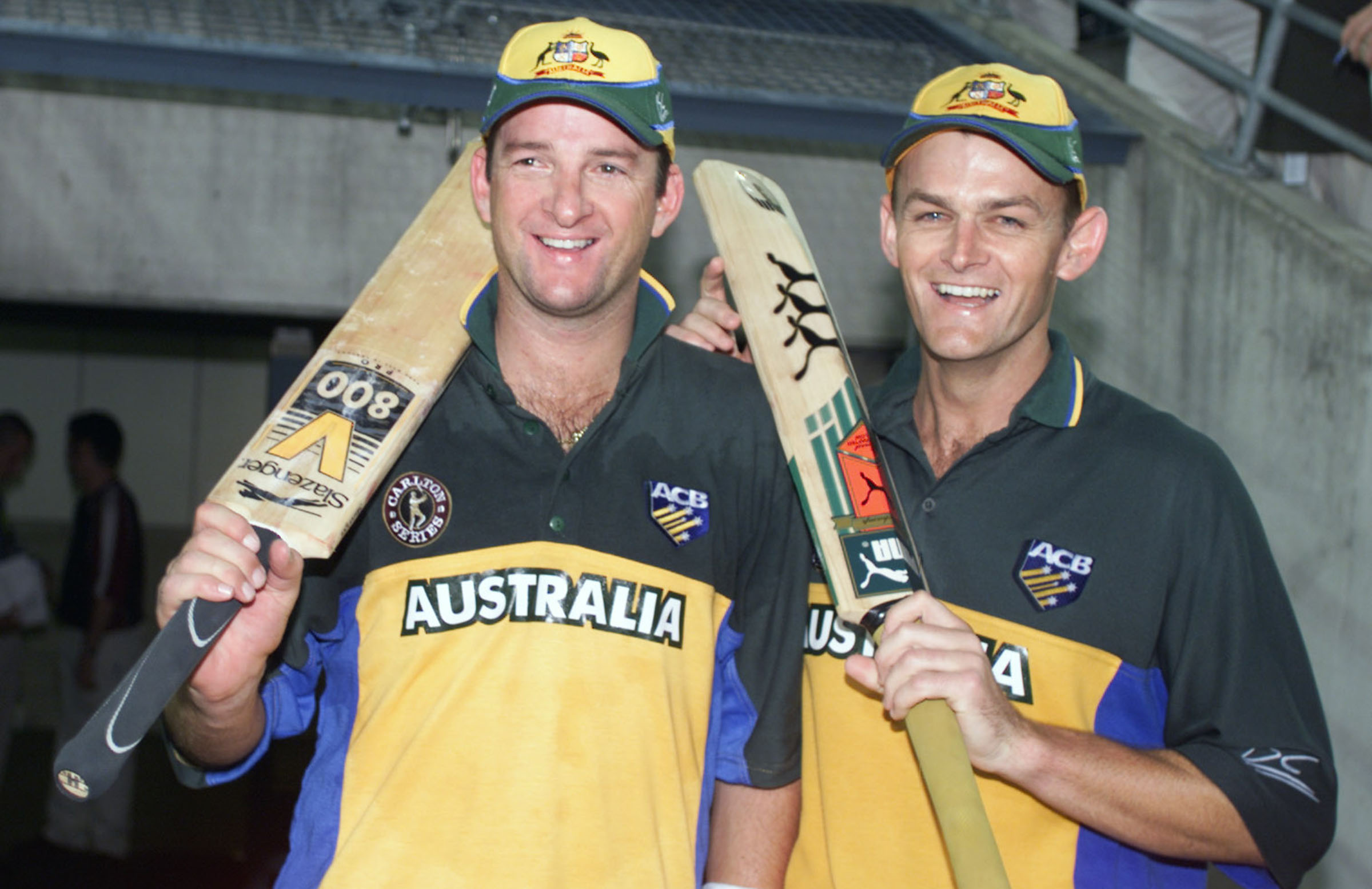 Image result for adam gilchrist and mark waugh