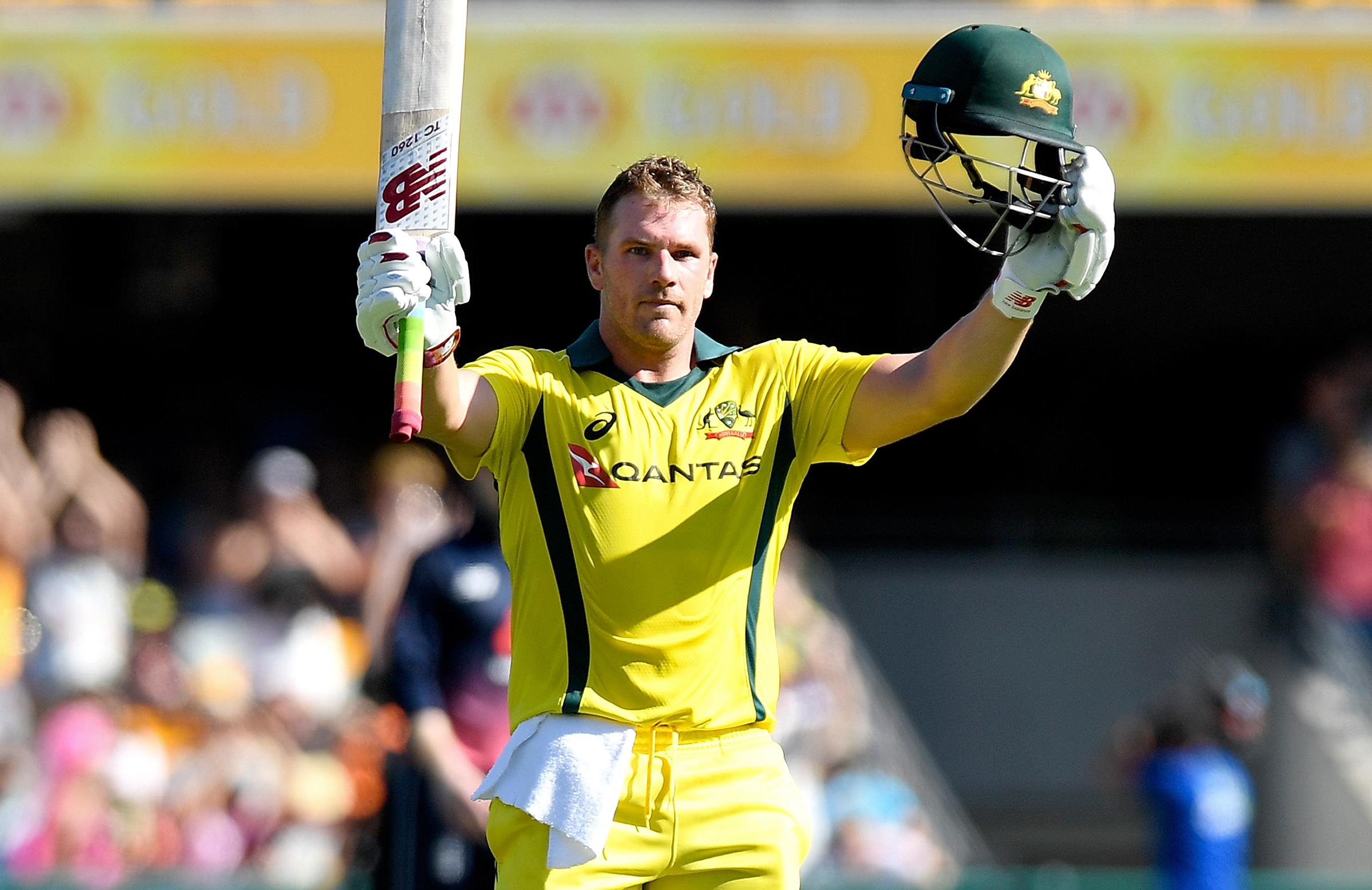 Aaron Finch pic credit Cricket Australia website.