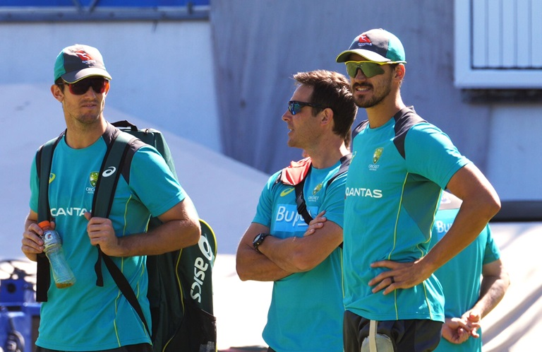 Marsh (left) and Starc at Newlands // cricket.com.au