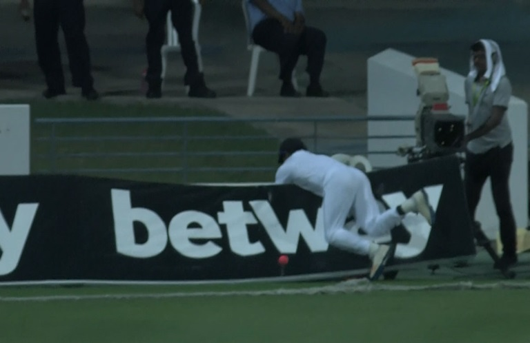 Perera-stretchered-off-after-fielding-incident-still