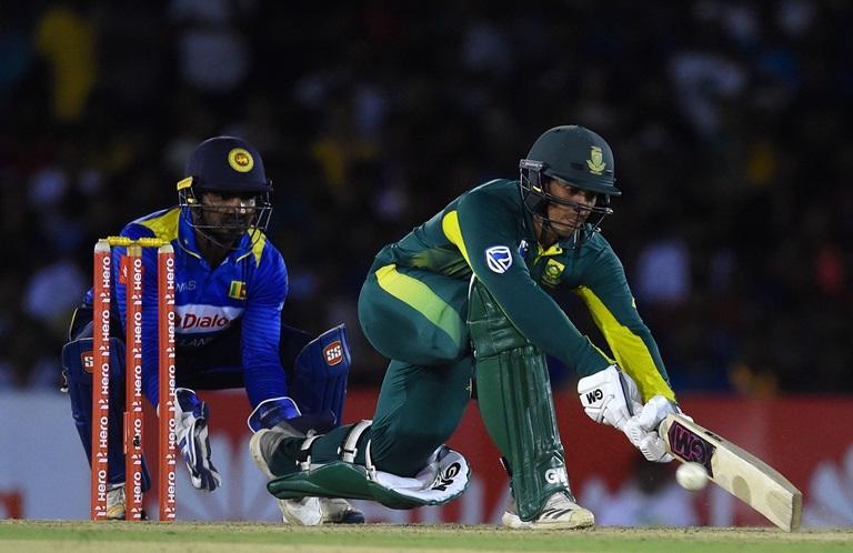 Quinton de Kock scored 87 runs off 78 balls in the second ODI at Dambulla. (Photo - Cricket.com.au)