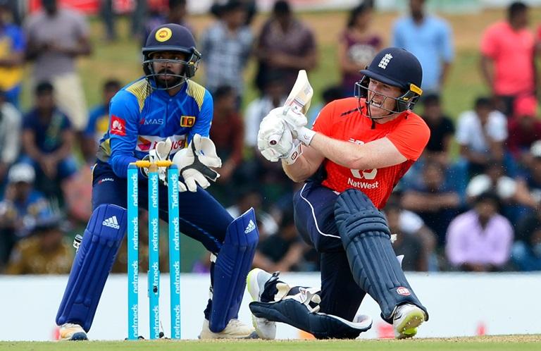 Captain Eoin Morgan played 92 runs match winning knock against Sri Lanka in Dambulla (photo - AAP)