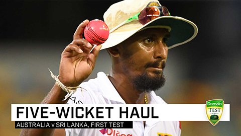 Lakmal stars with Gabba five-for