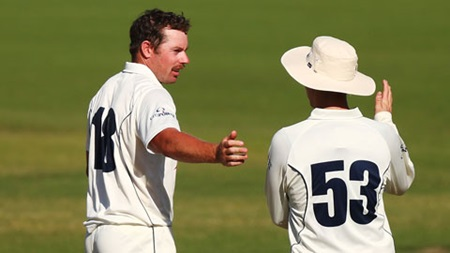 Holland nabs five wickets for Vics
