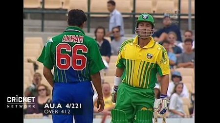 Lehmann takes on Wasim - and wins!