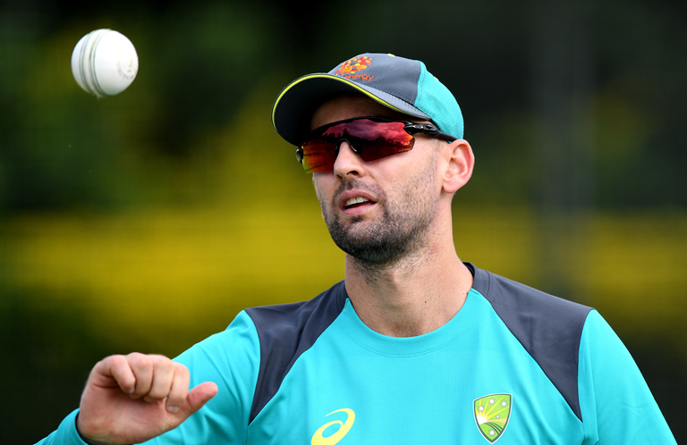 Nathan Lyon is the only squad member yet to play in Australia's World Cup campaign // Getty