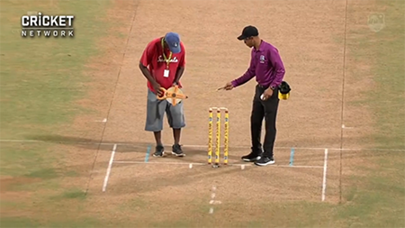 Officials forced to re-measure inner fielding circle