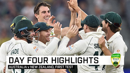 Australia turn up the heat to storm to first Test win