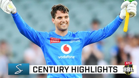 Classy Carey slams first century of BBL|10