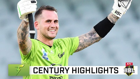 Hales slams rapid century in highest ever BBL total