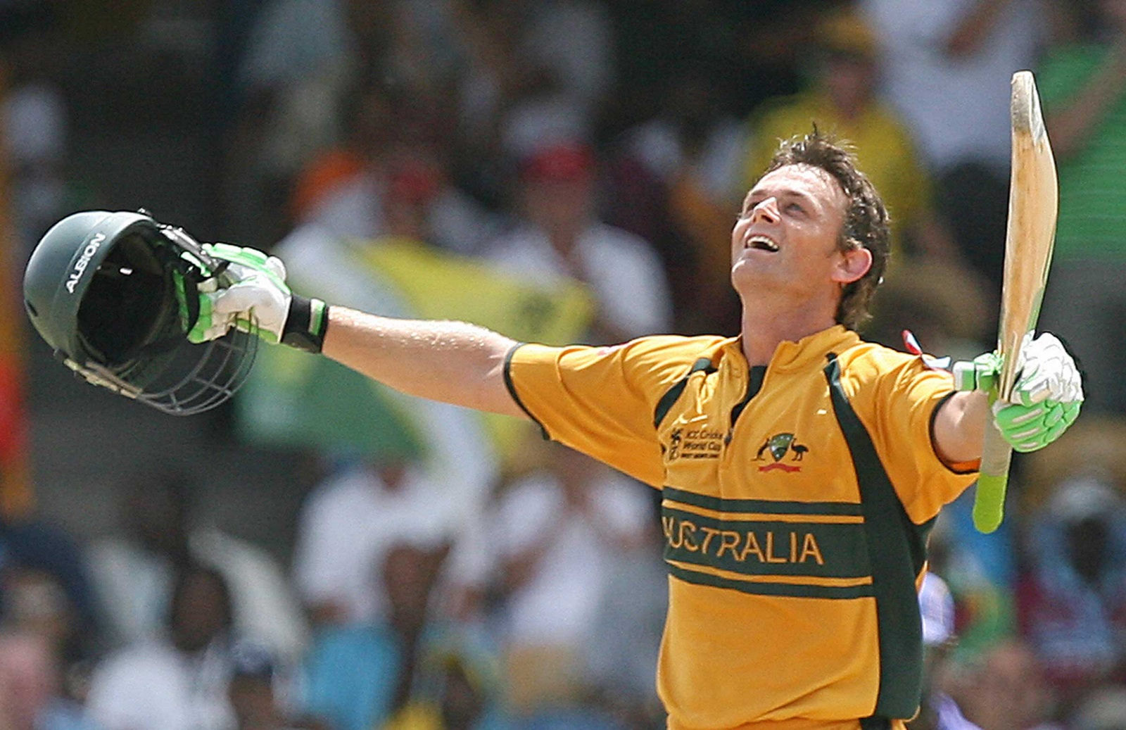 Image result for adam gilchrist 149 world cup final