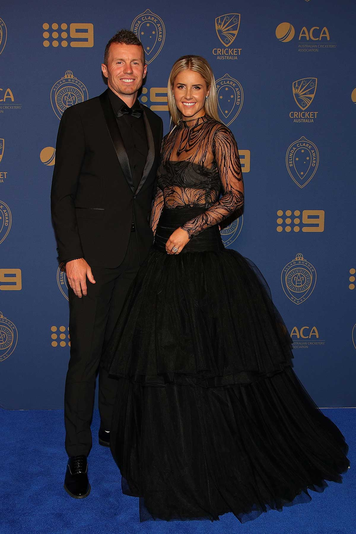 Peter Siddle and wife Anna Weatherlake // Getty